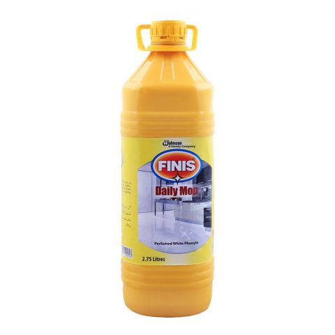 Finis Daily Mop, Perfumed White Phenyle, Concentrated, 2.75 Liters