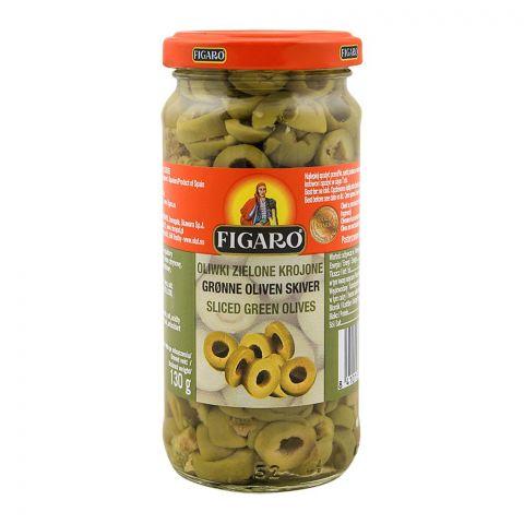 Figaro Sliced Green Olives, 240g