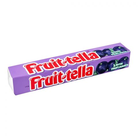 Fruit-Tella Chewy Candy, Blackcurrant, 32.4g