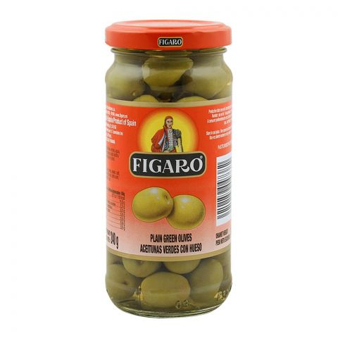 Figaro Plain Green Olives, 240g