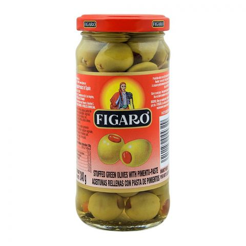 Figaro Stuffed Green Olives With Pimento Paste, 240g