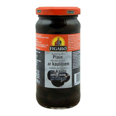 Figaro Plain Black Olives, 240g