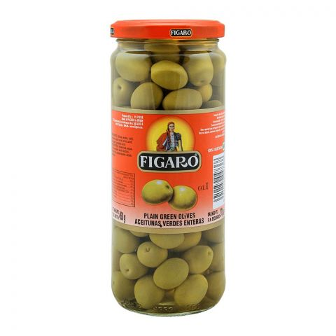 Figaro Plain Green Olives, 450g