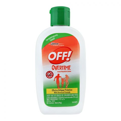OFF! Over Time Insect Repellent Lotion, 50ml