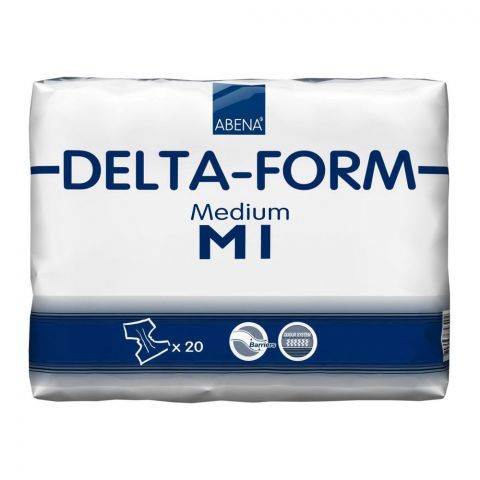Abena Delta-Foam All-In-One Adult Incontinence Briefs, Medium M1, 28-44 Inches, 20-Pack