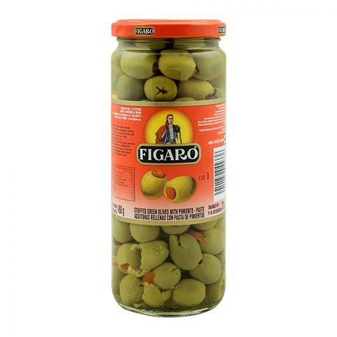 Figaro Stuffed Green Olives With Pimento Paste, 450g