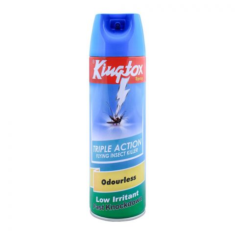 Kingtox Odorless Flying Insect Killer, Triple Action, 400ml
