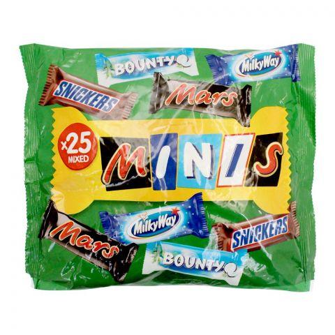 Mars Best Of Minis Chocolate, 25 Mix Bars, 500g