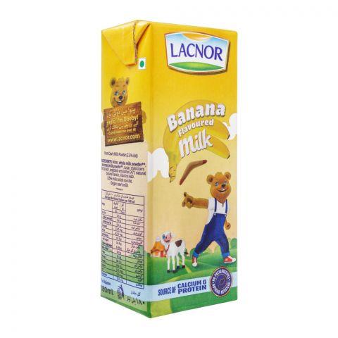 Lacnor Banana Flavoured Milk, 180ml