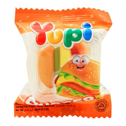 Yupi Burger Jelly, 1 Piece, 9g
