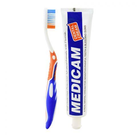 Medicam Dental Cream, Toothpaste + Toothbrush Pack, 200g