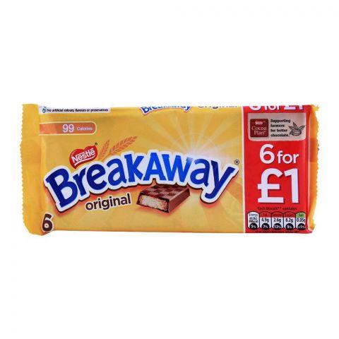 Nestle Breakaway Original Milk Chocolate, 6-Pack
