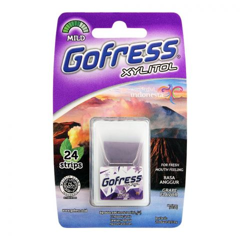 Gofress Oral Care Strip, Grape, Mild, 24-Pack