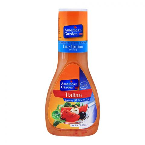 American Garden Lite Italian Dressing, 81% Less Fat, Gluten Free, 9oz/267ml