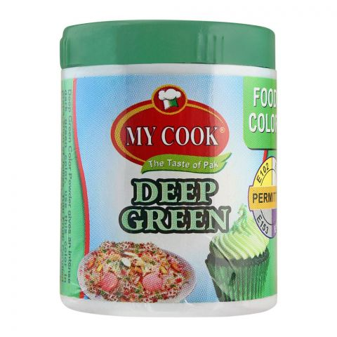 My Cook Deep Green Food Colour, 25g