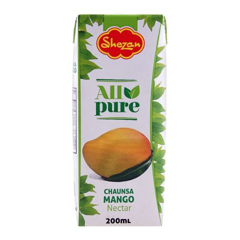 Shezan All Pure Chaunsa Mango Fruit Nectar, 200ml