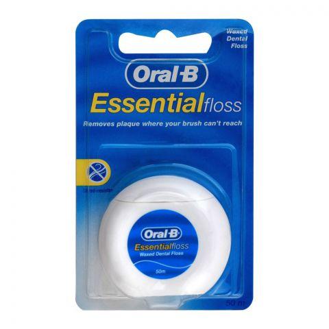 Oral-B Essential Floss Waxed Dental Floss, 50m