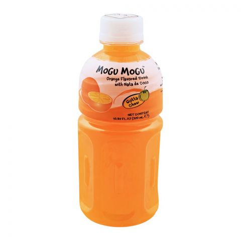 Mogu Mogu Orange Flavored Drink, With Nata De Coco, 320ml