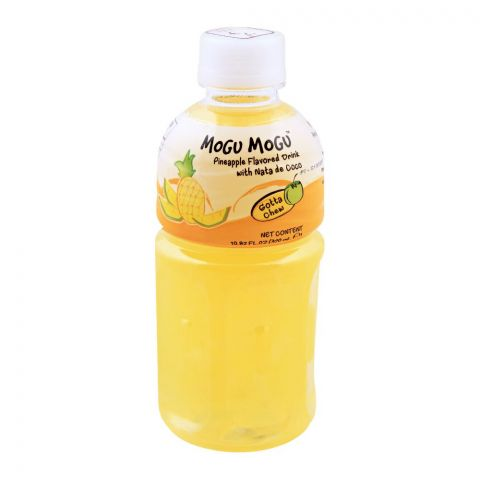 Mogu Mogu Pineapple Flavored Drink, With Nata De Coco, 320ml