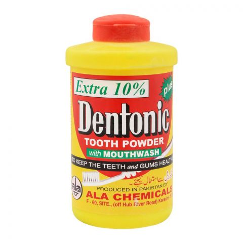 Dentonic Plus Tooth Powder With Mouthwash, 90g