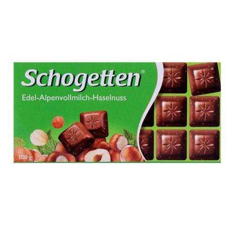 Schogetten Alpenvollmilch Hazelnut Chocolate 100g