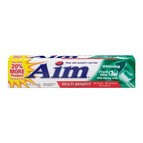 Aim Multi-Benefit Fresh Mint Gel Whitening Toothpaste, 156g