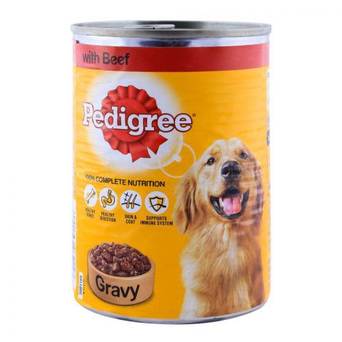 Pedigree Beef With Gravy Dog Food 400g