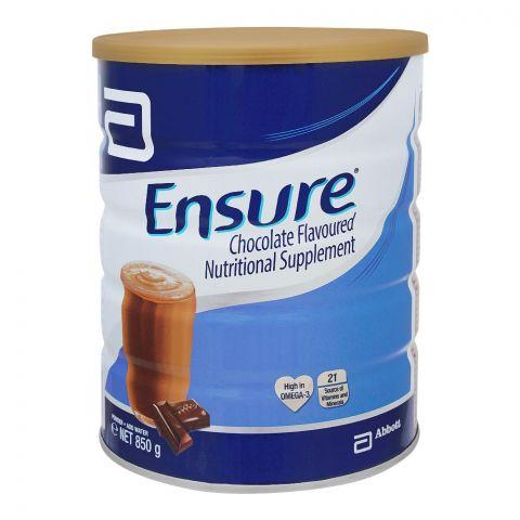 Ensure Nutritional Supplement, Chocolate Flavor, 850g