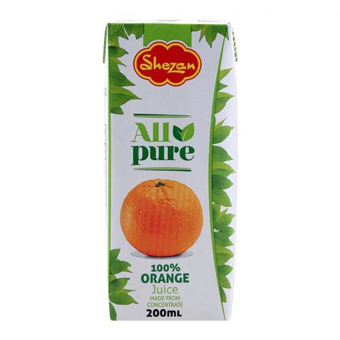 Shezan All Pure 100% Orange Juice, 200ml