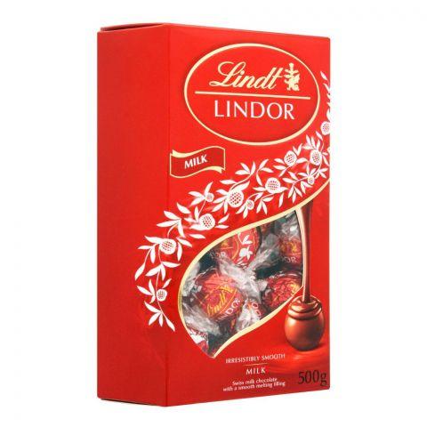 Lindt Lindor Milk Ball Chocolate Box, 500g
