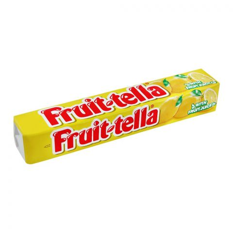 Fruit-Tella Chewy Candy, Lemon, 32.4g