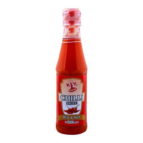 Key Brand Chilli Sauce, Red & Hot, 300ml