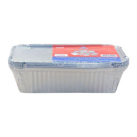 Apiil Aluminium Food Container, 219x119x60mm, 750ml, F-2, 6-Pack