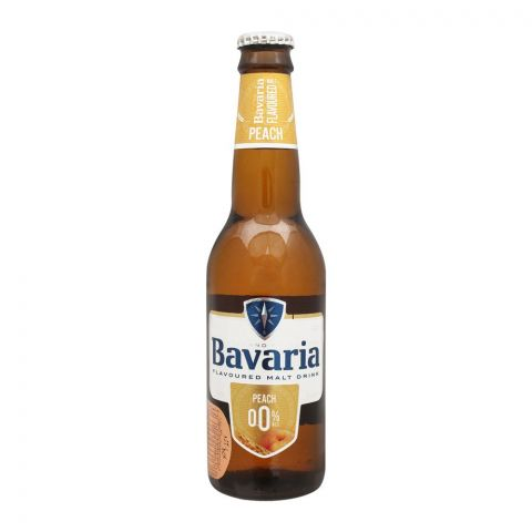 Bavaria Peach Flavour Malt Drink, Bottle, 330ml