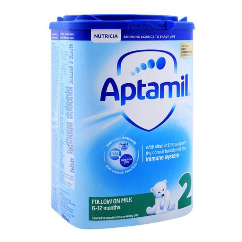 Aptamil No. 2, Follow On Milk, 6-12 Months, 800g