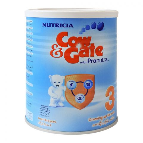 Cow & Gate With Pronutra No. 3, Growing-Up Formula, 400g, Tin