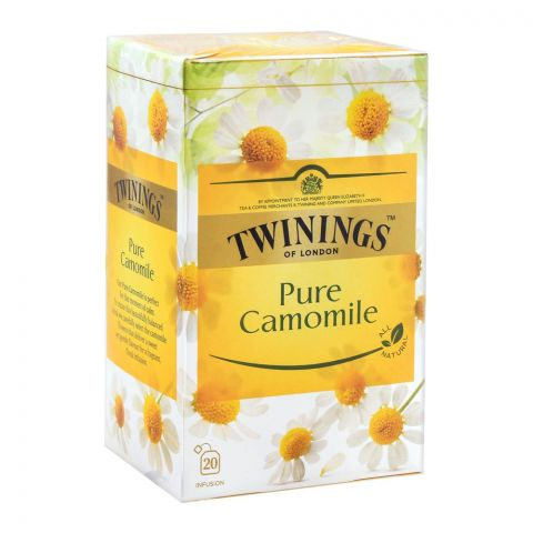 Twinings Pure Camomile Tea Bags, 20-Pack