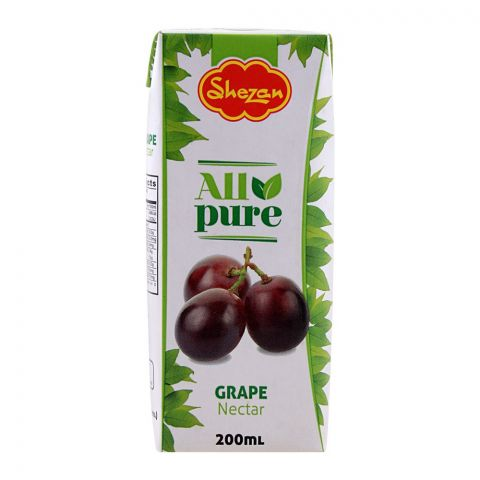 Shezan All Pure Grape Fruit Nectar, 200ml