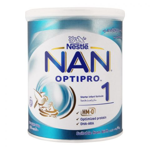 Nestle NAN Optipro, Stage 1, Starter Infant Formula, Tin, 400g