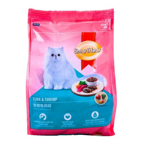 SmartHeart Adult Tuna & Shrimp Cat Food 480g