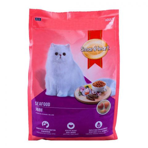 SmartHeart Adult Seafood Cat Food 480g