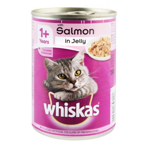 Whiskas Salmon In Jelly Cat Food, Tin, 390g