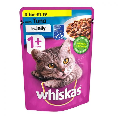 Whiskas Tuna In Jelly Cat Food, 1+ Years, 100g