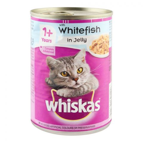 Whiskas White Fish In Jelly Cat Food, Tin, 390g
