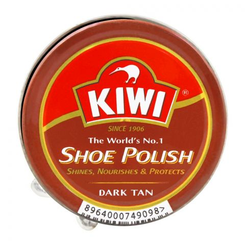 Kiwi Shoe Polish, Dark Tan, 45ml