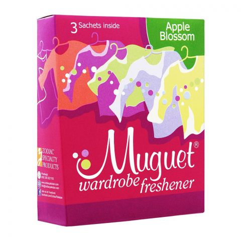 Muguet Wardrobe Freshener, Apple Blossom, 3 Sachets