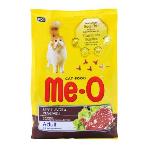 Me-O Adult Beef Flavor & Vegetable Cat Food 1.2 KG