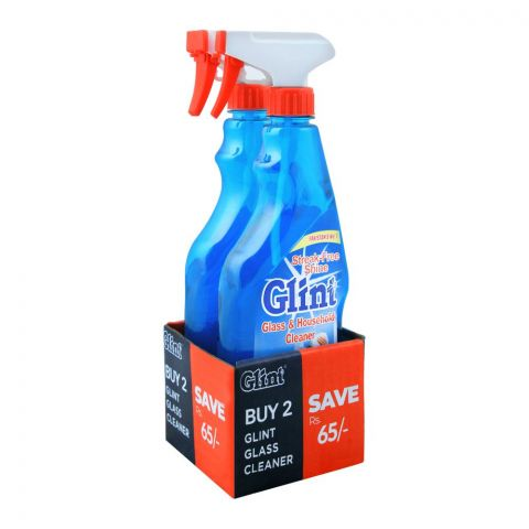 Glint Glass & Household Cleaner, 2-Pack, 500ml, Save Rs. 65