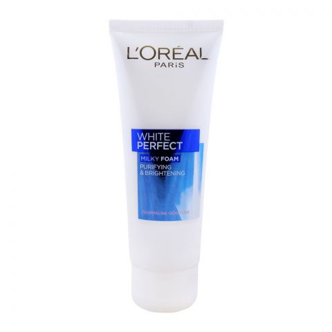 L'Oreal Paris White Perfect Milky Foam, Purifying & Brightening, 100ml