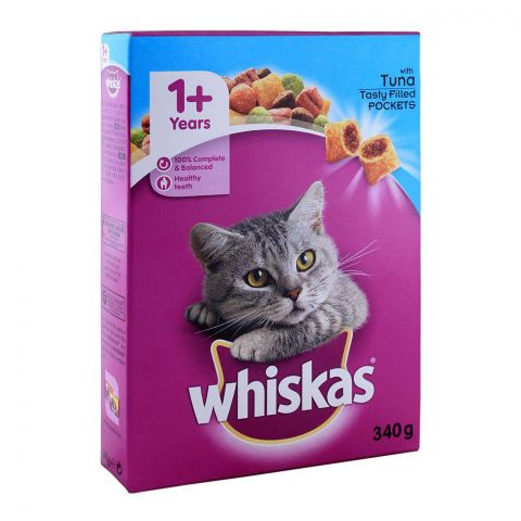 Whiskas 1+ Years Tuna Cat Food 340g